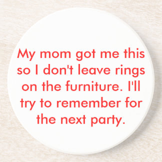 Ring-Free Party Beverage Coasters