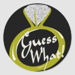Ring/ Guess What Classic Round Sticker