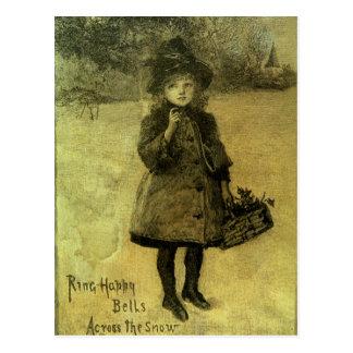 Ring Happy Bells Across the Snow Postcard