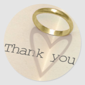 Ring | Heart Shadow Thank You Stickers