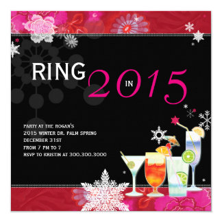 Ring in 2015 Glamorous New Year's Eve Party Invite