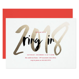 ring in 2018 new year party invitation