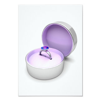 Ring In A Jewellery Box Invitations