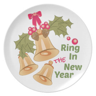 Ring In New Year Dinner Plate