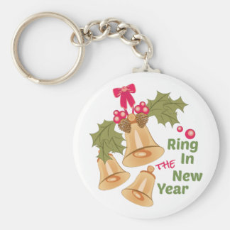 Ring In New Year Keychain