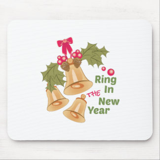 Ring In New Year Mouse Pad