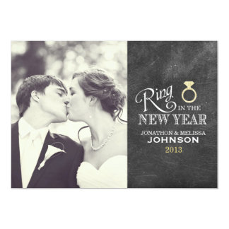 Ring in the New Year | Gold Ring Card