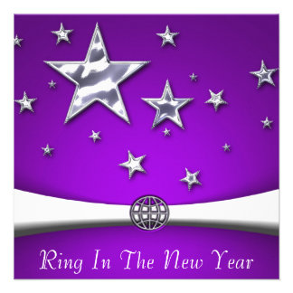 Ring In The New Year Party Invitations