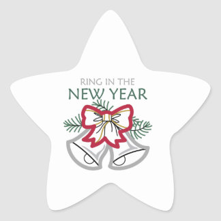 RING IN THE NEW YEAR STAR STICKER