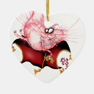 Ring my Bell -funny cat cartoon, tony fernandes Ceramic Ornament