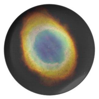 Ring Nebula Dinner Plate (NASA/Hubble Telescope)