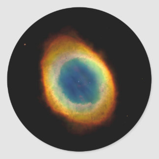 Ring Nebula (Hubble Telescope) Classic Round Sticker