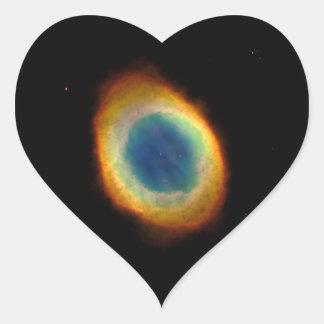 Ring Nebula (Hubble Telescope) Heart Sticker