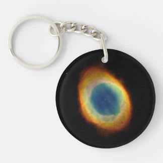 Ring Nebula (Hubble Telescope) Double-Sided Round Acrylic Keychain