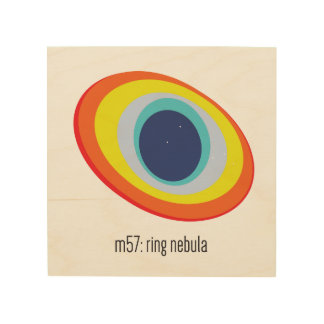 Ring Nebula Wood Wall Art