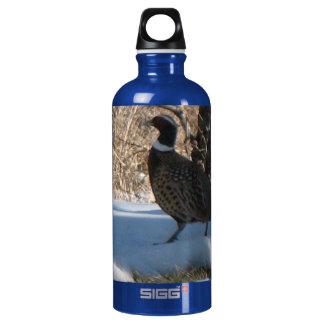 Ring Neck Pheasant Aluminum Water Bottle