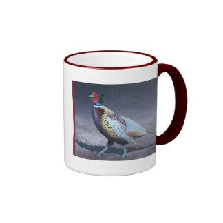 Ring Neck Pheasant Ringer Coffee Mug