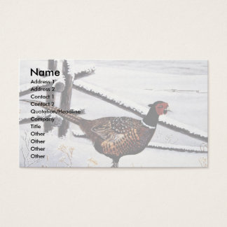 Ring-necked pheasant business card