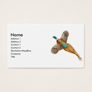 Ring Necked Pheasant Business Card