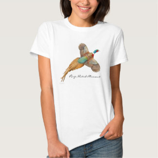 Ring Necked Pheasant Ladies Baby Doll Shirt