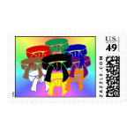 Ring of Belts Postage Stamps