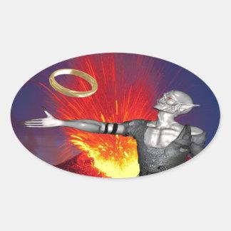 Ring of Destruction Oval Sticker