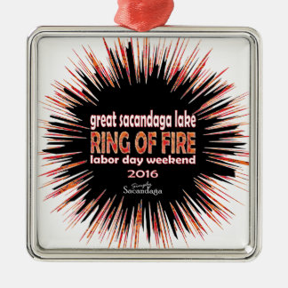 Ring Of Fire 2016 Metal Ornament