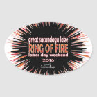 Ring Of Fire 2016 Oval Sticker