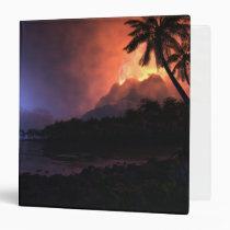 digital, volcano, tropics, night, moon, Fichário com design gráfico personalizado