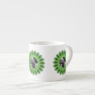 Ring of Green Photo Frame Kaleidoscope Mandala 6 Oz Ceramic Espresso Cup