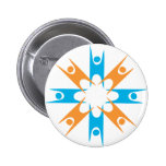 Ring of Happy Humanists 2 Inch Round Button
