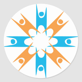 Ring of Happy Humanists Classic Round Sticker