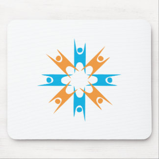 Ring of Happy Humanists Mouse Pad