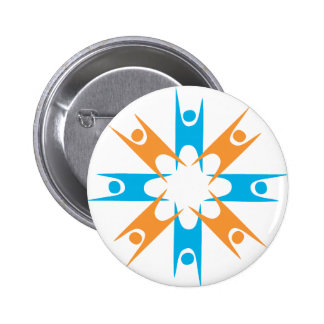 Ring of Happy Humanists Pinback Button