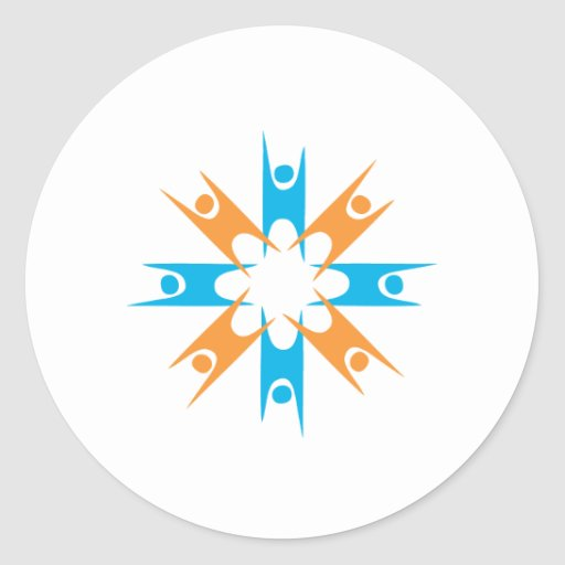 Ring of Happy Humanists Round Sticker