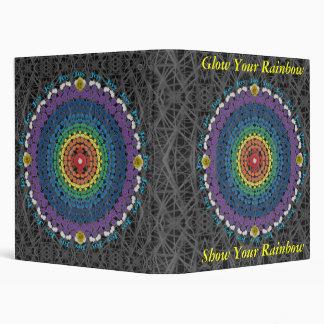Ring of Joy Rainbow Mandala Binder