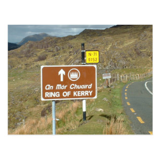 Ring of Kerry sign, Ireland Postcard
