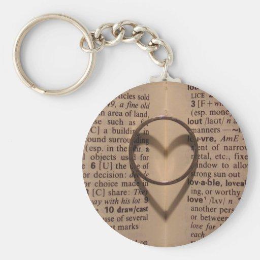 Ring of Love - Antique Basic Round Button Keychain