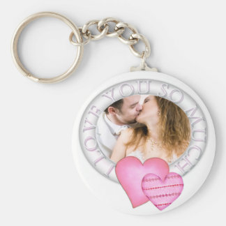 Ring of love  Valentine's day photo keychain