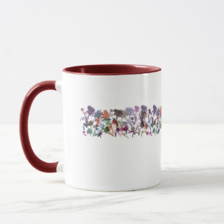 Ring of Scottish Thistle Flowers Art Mug