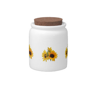 Ring of Sunflowers Candy Dishes