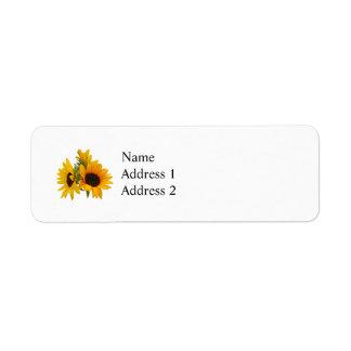Ring of Sunflowers Custom Return Address Label