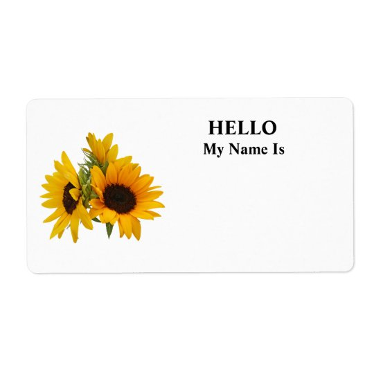 Ring of Sunflowers Label