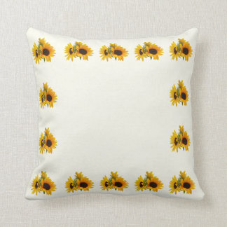 Ring of Sunflowers Throw Pillows