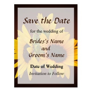 Ring of Sunflowers Save the Date Postcard