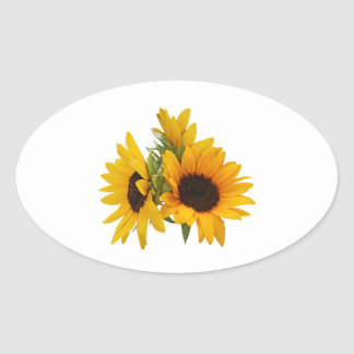 Ring of Sunflowers Oval Sticker