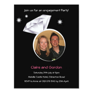 Ring Photo Engagement Party Invitation