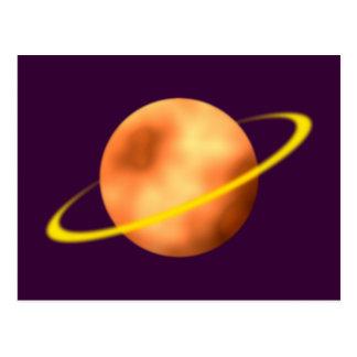 Ring planet Saturn Postcard