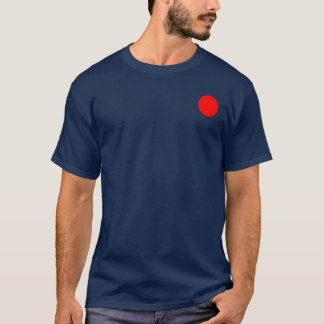 ring red on navy blue T-Shirt