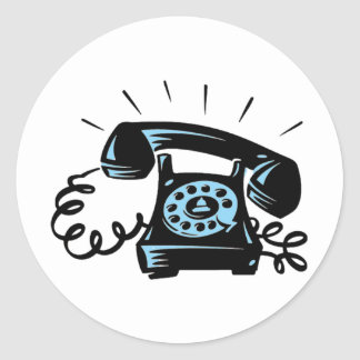 Ring Ring Classic Round Sticker